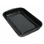 Ginsberg Black Enamel Dissecting Pan without Wax: 15.75 x 9.75 x 2