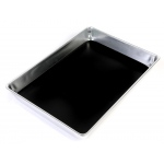 "Ginsberg Aluminum Dissecting Pan with Wax: Large, 13"" x 9.5"" x 2"""