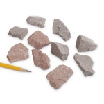 Igneous Rocks Rhyolite: Pink to Gray, Pack of 10