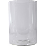 "Ginsberg Molded Glass Electrolysis Jar Only: 5"" D x 9"" H"