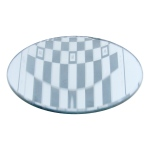 Silver Backed Glass Mirror with Ground Edges: 7.5 cm Diameter x 7 cm FL