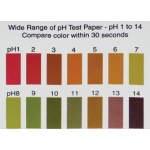 Wide Range pH Color Chart, 1-14