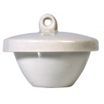 Porcelain Crucible with Lid: Low Form, 43 mm Diameter x 19 mm OD, 15 ml Capacity