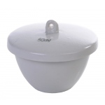 Porcelain Crucible with Lid: Low Form, 59 mm Diameter x 28 mm OD, 50 ml Capacity