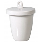 Porcelain Crucible with Lid: High Form, 30 mm Diameter x 20 mm Capacity