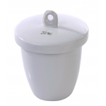 Porcelain Crucible with Lid: High Form, 40 mm Diameter x 25 mm Capacity