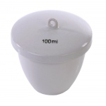 Porcelain Crucible with Lid: High Form, 63 mm Diameter x 34 mm Capacity