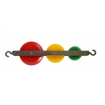 Ginsberg Triple Tandem Colored Pulley