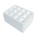 Polystyrene Spot Plates: 12 Depressions, Pack of 12