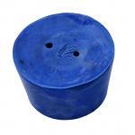 2-Hole Blue Rubber Stoppers: Size # 12, 3 Pieces (1 lbs)