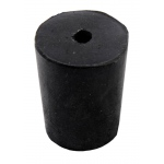 1-Hole Blue Rubber Stoppers: Size # 2, 49 Pieces (1 lbs)