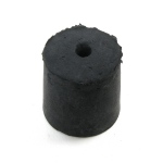 1-Hole Blue Rubber Stoppers: Size # 5, 21 Pieces (1 lbs)
