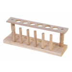 Test Tube Wooden Rack: 6 Tube, 1 Row, 24mm D