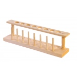 Test Tube Wooden Rack: 8 Holes x 22 mm with Drying Pins