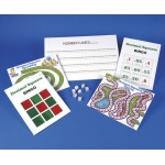 American Education Decimal Squares Activity Mats Including Marker and Dice