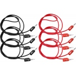 "American Education Banana Plug (Both Ends): 36"", Pack of 6 (3 Black, 3 Red)"