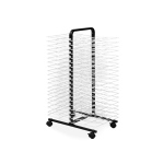 American Educational Drying Rack on Wheels: 40 Shelves, Small