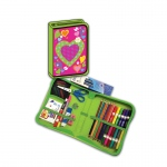 Heart Designed All In One School Supplies Carrying Case 41 Pcs
