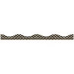 Big Magnetic Border Black Scribble Chevron Burlap