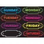 Die-Cut Magnets Chalkboard Days Of The Week