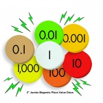 7-Value Jumbo Magnetic Place Value Demonstration Discs Set