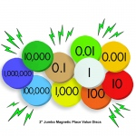 10-Value Jumbo Magnetic Place Value Demonstration Discs