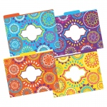 Letter Size File Folders Moroccan Multi-Design Set