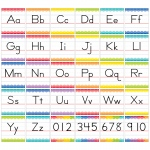 Traditional Manuscript Alphabet Bb Set Painted Palette