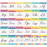 Cursive Handwriting Alphabet Bb Set Painted Palette