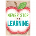 Never Stop Learning Inspire U Poster