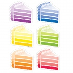 Cake Slices 3in Cut Outs Painted Palette