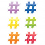 Hashtags 6in Cut Outs Painted Palette