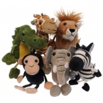 African Animals Finger Puppets 6st