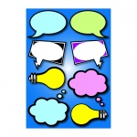 Die-Cut Magnets Speech Bubbles