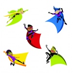 Super Power Super Kids Cut Outs