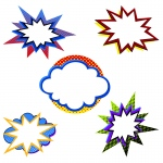 Super Power Bursts Cut Outs
