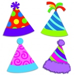 Party Hats Cut Outs