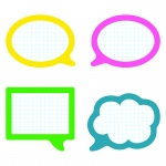School Pop Speech Bubbles Cut Outs