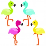 School Pop Flamingos Cut Outs