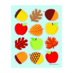 Apples Acorns & Leaves Shape Stickers