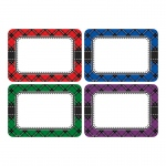 Plaid Name Tags Labels Multi Pack