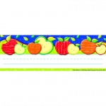 Color My World Self Adhesive Apple Name Plates