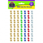 Asstd Foil Stars Valupak Stickers