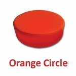 Orange Circle Pillow