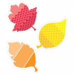 Painted Palette Fall Leaves Cutouts 3 In
