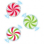 Peppermint Candies 3in Cutouts