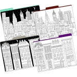 Letter Size File Folders Color Me Cityscapes Multidesign St