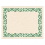 Art Deco Border Paper Green