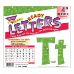 4in Ready Letters Lime Sparkle
