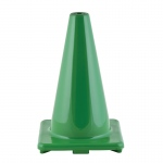 Flexible Vinyl Cone 12in Green Weighted